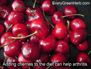 Adding cherries to the diet can help arthritis pain.
