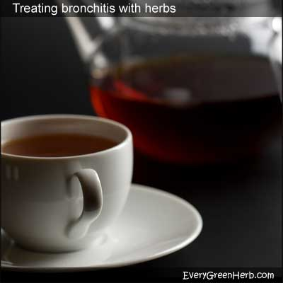 Bronchitis can be treated with herbal tea.