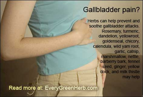 Herbs can help with gallbladder pain.