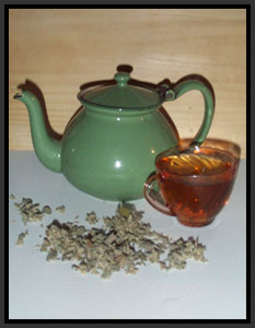 Herbal tea can help stop diarrhea
