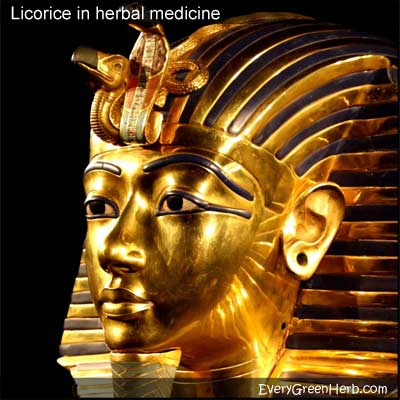 King Tut was buried with licorice.