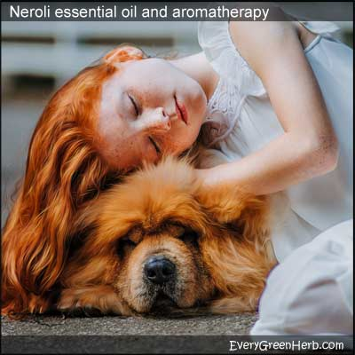 Neroli essential oil relaxes the mind.