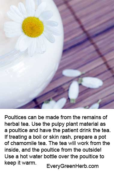 Poultices are easy to make at home