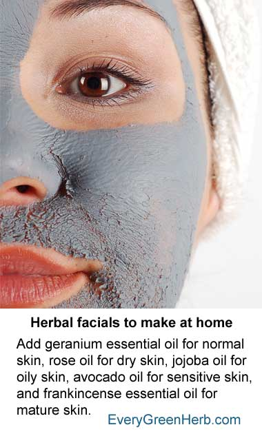 Herbal facials are great for the skin