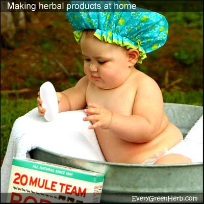 This baby is using natural products.