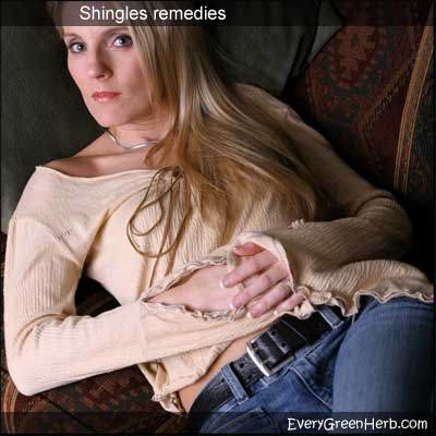 Shingles blisters can be treated with medicinal herbs