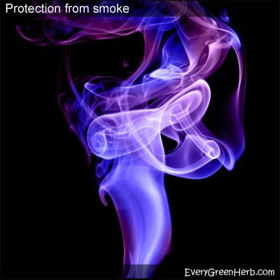 Protection from smoke including 2nd hand cigarette smoke
